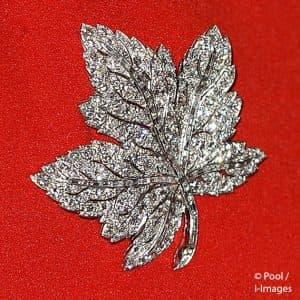 Kate Middleton Duchess of Cambridge Canadian Maple Leaf royal brooch Victoria British Columbia 2016