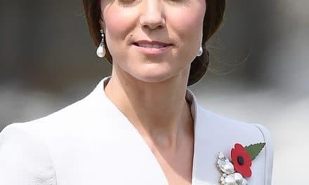 Pearl and Triple Leaf Royal Brooch
