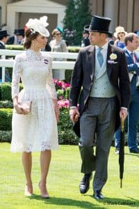 Kate Middleton Duchess of Cambridge white Alexander McQueen Prince William Royal Ascot June 2017