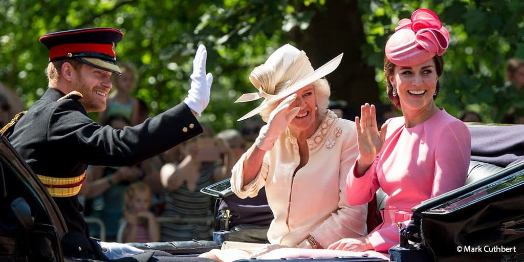 Kate Middleton Duchess of Cambridge Camilla Parker Bowles Duchess of Cornwall Prince Harry Trooping the Colour June 2017