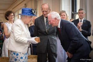 Queen Elizabeth II snowflake brooch Canada House Governor General David Johnston July 2017