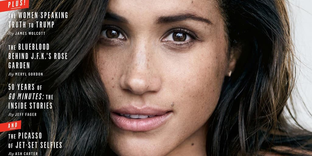 Meghan Markle Vanity Fair cover actress suits October 2017
