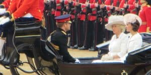 Kate Middleton, Camilla and Prince Harry at Trooping the Colour 2016