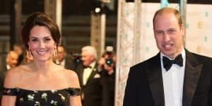 Prince William and Kate Middleton arriving at the British Academy Film Awards in London (2017)