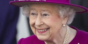 The Queen at the launch of The Queen's Baton Relay for the 2018 Commonwealth Games in Australia at Buckingham Palace in London.
