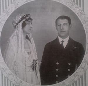 Princess Patricia and her husband Alex Ramsay on the cover of 1919 Illustrated London News