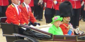 Queen Elizabeth II and Prince Philip at Trooping the Colour 201