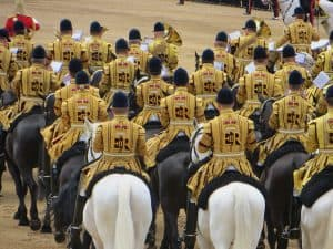 The band of the Household Cavalry at Trooping the Colour in London (2016)