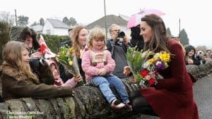 Kate Middleton Duchess of Cambridge at Caerphilly Family Intervention Team in Wales 2017