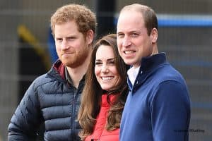 Prince Harry and Prince William and Kate Middleton Duchess of Cambridge at a Heads Together mental health event for the London Marathon, 2017