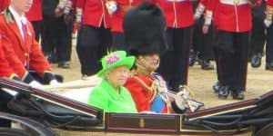 Prince Philip and Queen Elizabeth II at retirement Trooping the Colour 2016
