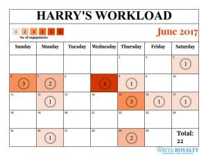 Prince Harry Workload engagements calendar June 2017