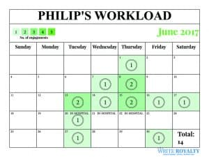 Prince Philip workload engagements calendar June 2017