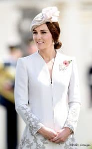 Kate Middleton duchess Cambridge white Catherine Walker Pearl Triple Leaf Royal Brooch Passchendaele Ypres Belgium 2017