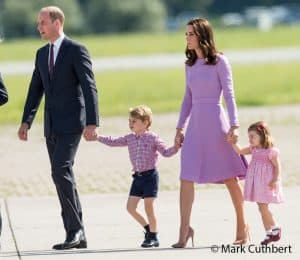 Prince William Kate MIddleton Duchess of Cambridge Prince George Princess Charlotte Hamburg Germany pink Emilia Wickstead Hamburg July 2017