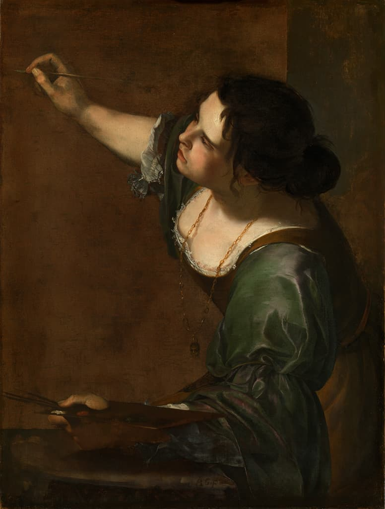 Self-Portrait as an Allegory of Painting (La Pittura) c. 1638-39 by Artemisia Gentileschi, oil on canvas. Royal Collection, copyright: Her Majesty Queen Elizabeth II, 2017