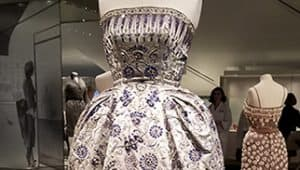 Christian Dior embroidered gown Royal Ontario Museum