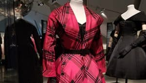 Christian Dior red plaid dress Royal Ontario Museum 2017