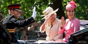 Kate Middleton Prince Harry Camilla Parker Bowles Trooping the Colour London 2017 royal family