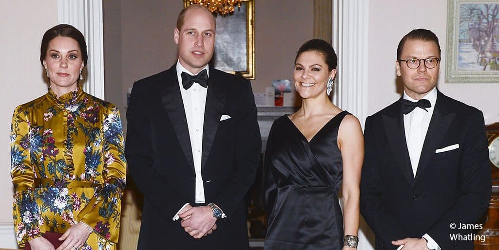 Kate Middleton Duchess of Cambridge Duke of Cambridge Prince William Daniel Princess Victoria Sweden Stockholm 2018