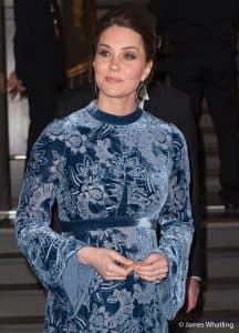 Kate Middleton Duchess of Cambridge erdem blue stockholm Sweden 2018