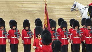 Trooping the Colour guard inspection 2016