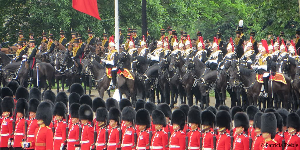 Trooping the Colour Household Cavalry King's Horse Royal Artillery 2016