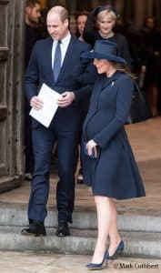 Prince William Kate Middleton duchess of cambridge blue beulah commonwealth service