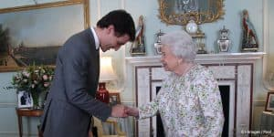 Canada Prime Minister Justin Trudeau Queen Elizabeth II Commonwealth nod bow Buckingham Palace