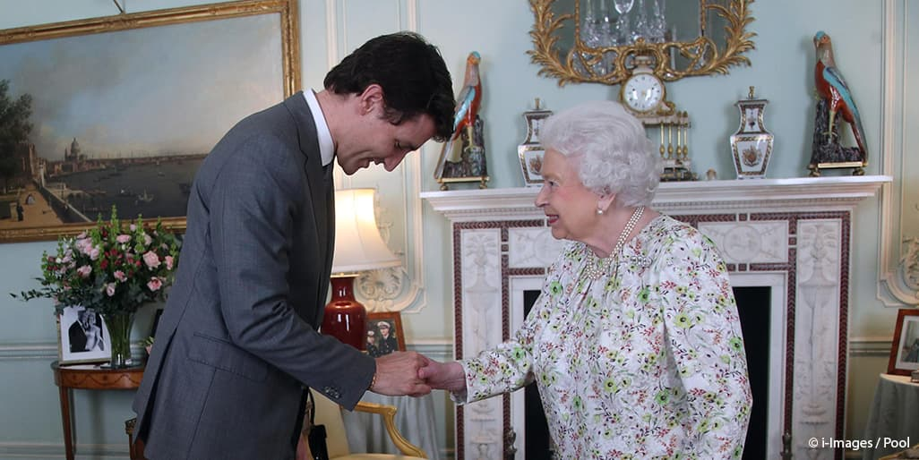 Canada Prime Minister Justin Trudeau Queen Elizabeth II Commonwealth Royal family nod bow Buckingham Palace