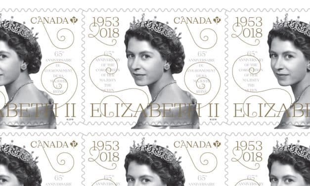 Canada's new stamp for Queen Elizabeth II