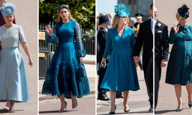 Royal wedding fashion: a symphony of blues and greens